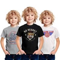 Baju Kaos Anak Laki Laki Super Hero Motif Dewasa 1 2 3 4 Tahun