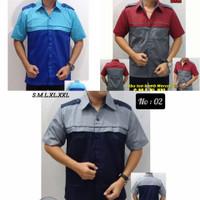baju polos kerja lapangan/promosi /kemeja/seragam/drill/otomotif