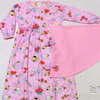 gamis anak perempuan set hijab karakter termurah PROMO/2 - 4 tahun - BTS pink