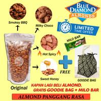Kacang Almond Panggang 1Kg / Roasted Almond Grade Premium A 1000gram
