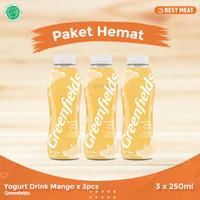 Yogurt Greendfields Drink Mango 250 ml x 3pcs