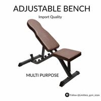 SIT UP SIT-UP ADJUSTABLE BENCH Kursi Gym Fitness Olahraga Situp - Adjustable Iron