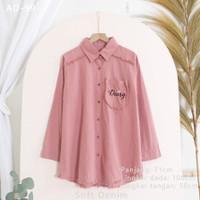 Atasan Bordir Wanita Blouse Baju Kerja Katun TWILL 'PINKY' - AD-99 DustyPink