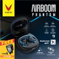 AIRBOOM PHANTOM TWS Bluetooth Earphone QCC Aptx - 14in1 Touch Control