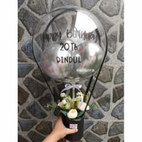 box balon bunga bouquet bucket balon bloom box buket