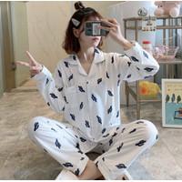 Piyama Baju Tidur Wanita Import PP Fashion Lengan Celana Panjang 7518