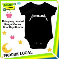 Baju Jumpsuit Bayi Laki Laki Band Metalica Jumper Baby Cowok Keren