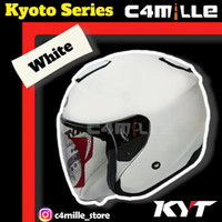 HELM KYT KYOTO SOLID WHITE HALF FACE