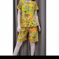 Baju Tidur Batik Anita Baby Doll Celana Pendek Size M Tanpa Kancing