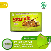 Starvit Herbal Jahe, Temulawak, Kunyit dan Madu 10 sachet - Free Maske
