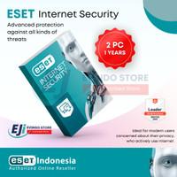 ESET Internet Security Antivirus Original - 2 Komputer 1 Tahun