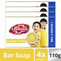Lifebuoy Lemon Fresh Sabun Batang 110gr (isi 4)