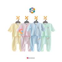 NOVA Setelan Baju Bayi Lengan Panjang + Celana Panjang Warna 0-3 Bulan