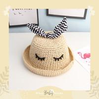 Blink Blink Bucket Hat / Topi Rajut Lucu Anak / Topi Pantai Anak / Top