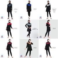 Edora Sportswear Kayla Baju Renang Wanita - Baju Renang Muslimah - Dark Grey, XL