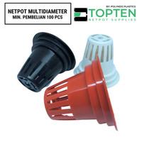 Netpot Hidroponik Multi Diameter Bertingkat (4.5cm - 6 cm) Min 100 Pcs