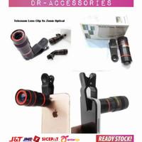 Lensa Tele Zoom 8x Universal Telescope Clip For Smartphone