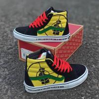 Sepatu Vans Sk8 HI Public Enemy Black Yellow ORI Premium BNIB Quality