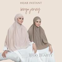 BERGO LENA BAHAN JERSEY / bergo jersey / hijab jersey / jilbab instan