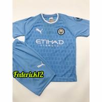Stelan baju bola anak man.city jersey terbaru - CITY BIRU, 4