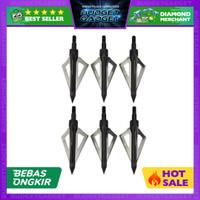 Kepala Anak Panah Hunting Arrow Head Aluminium Blade 6 PCS
