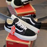 vans oldskool og black white / sepatu fashion pria wanita terbaru - 36