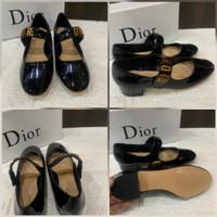 Dior Baby-D Ballet Pump Patent 52 Shoes