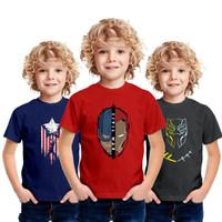 Baju Kaos Anak Laki Laki Superhero 5 6 7 8 Tahun Karakter Dewasa