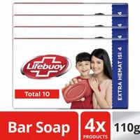 Lifebuoy Sabun Batang Total 10 110 Gr (isi 4)