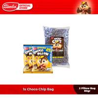 Cereal SIMBA - 1 Choco Chip Bag 1 kg & 2 Pillow Bag 80 gr