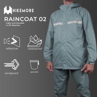 Jas Hujan Motor Anti Rembes Raincoat Razzor Original - HM Grey, L