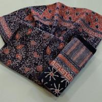 kain batik sarimbit cirebon trusmi cap tulis bahan dobby dobi doby