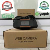 Webcam HD 1080p Autofocus Camera PC Desktop Portable Laptop + MIC - HITAM ORANGE HD