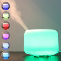 Aroma Therapy Diffuser Humidifier Elektrik dengan 7 LED