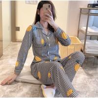 Piyama Baju Tidur Wanita Import PP Fashion Lengan Celana Panjang 7517
