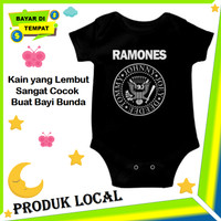 Baju Jamper Bayi Laki Laki Unik Jumper Baby Cowok Band Ramones Keren