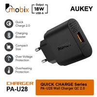 Aukey PA-U28 Wall Charger 18W Qualcom Quick Charge 2.0 - Hitam