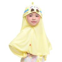 Bani Batuta - Kerudung Anak Krukid Nayera - Kuning Muda, 1-2 Tahun