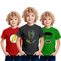 Baju Kaos Anak Laki Laki Distro 5 6 7 8 tahun Karakter Dewasa - BLACK PANTHER, L