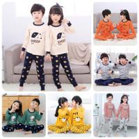 BAJU PIYAMA ANAK / Baju Tidur COUPLE Anak IMPOR Untuk Usia 1-12 Tahun