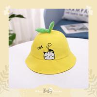 Cartoon Bucket Hat / Topi Bundar Anak / Topi Anak Lucu / Kids Hat - Cat
