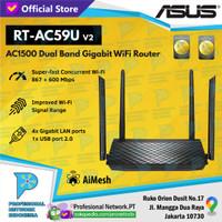 ASUS RT-AC59U V2 Dual Band Gigabit WiFi Router AC1500 AiMesh Support