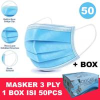 Masker 3ply isi 50 disposable Surgical mask Masker bedah Earloop