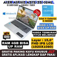 Acer Aspire A315-35-C6ML-INTEL N4500-RAM 4GB-HDD 1TB-LAYAR 15FHD-SLIM - SILVER RAM 4GB