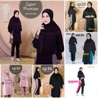 Baju renang muslimah syari longgar Aghnisan super premium