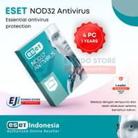 ESET NOD32 Antivirus - 4 Komputer 1 Tahun