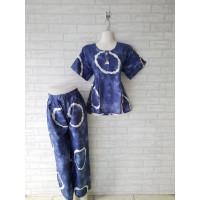 setelan piyama batik dewasa/ babydol celana panjang/ baju tidur