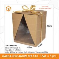 Dus Kue Tinggi Tall Cake Box Mika 25 x 25 x 30cm Kotak | WB302525