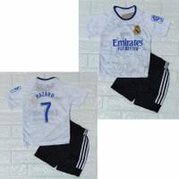 setelan baju bola anak/jersey musim terbaru/setelan bola futsal - matrit putih, 8(3th-4th)