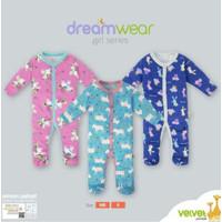 Velvet Junior Random Motif DreamWear Sleepsuit Baju Tidur Bayi - Girl